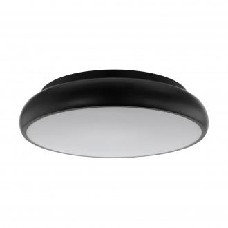 EGLO 96996 | EGLO-Connect-Moneva Eglo stropné múdre osvetlenie kruhový regulovateľná intenzita svetla, meniace farbu 1x LED 3400lm 2700 <-> 6500K čierna, biela
