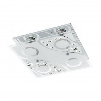 EGLO 96999   Aquila Eglo stenové, stropné svietidlo 4x GU10 960lm 3000K chróm, priesvitná, biela