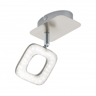 EGLO 97001 | Litago-Crystal Eglo spot svietidlo otočné prvky 1x LED 350lm 3000K matný nikel, biela