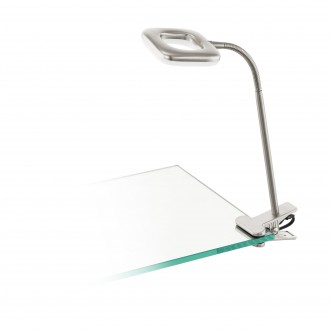 EGLO 97016 | Litago Eglo štipcové svietidlo prepínač na vedení flexibilné 1x LED 350lm 3000K matný nikel, biela