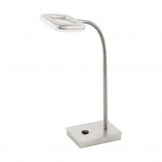 EGLO 97017 | Litago Eglo stolové svietidlo 37cm dotykový vypínač flexibilné 1x LED 350lm 3000K matný nikel, biela