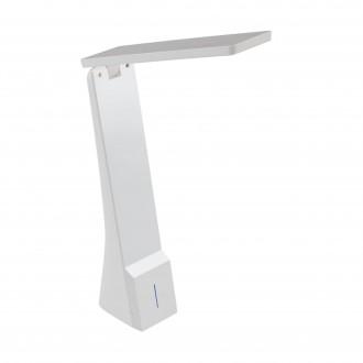 EGLO 97044 | La-Seca Eglo stolové svietidlo 26cm dotykový prepínač s reguláciou svetla regulovateľná intenzita svetla, nastaviteľná farebná teplota, otočné prvky, USB prijímač 1x LED 170lm 3000 <-> 5000K biela