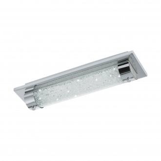EGLO 97054 | Tolorico Eglo stenové, stropné svietidlo 1x LED 1100lm 4000K IP44 chróm, priesvitné
