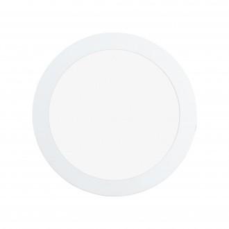 EGLO 97113 | Fueva-RW Eglo zabudovateľné LED panel, Relax & Work impulzový prepínač regulovateľná intenzita svetla, nastaviteľná farebná teplota Ø170mm 1x LED 1300lm 2700 - 4000K biela