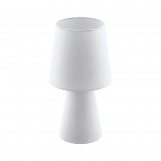 EGLO 97121 | Carpara Eglo stolové svietidlo 34cm prepínač na vedení 2x E14 biela
