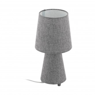 EGLO 97122 | Carpara Eglo stolové svietidlo 34cm prepínač na vedení 2x E14 sivé