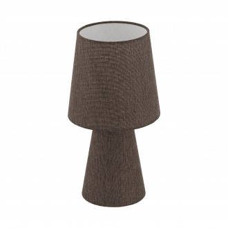 EGLO 97123 | Carpara Eglo stolové svietidlo 34cm prepínač na vedení 2x E14 hnedá