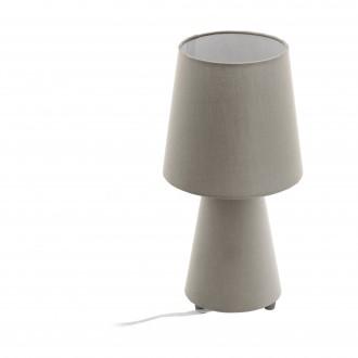 EGLO 97124 | Carpara Eglo stolové svietidlo 34cm prepínač na vedení 2x E14 taupe