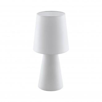EGLO 97131 | Carpara Eglo stolové svietidlo 47cm prepínač na vedení 2x E27 biela