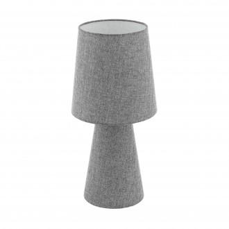 EGLO 97132 | Carpara Eglo stolové svietidlo 47cm prepínač na vedení 2x E27 sivé
