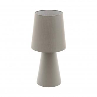 EGLO 97134 | Carpara Eglo stolové svietidlo 47cm prepínač na vedení 2x E27 taupe