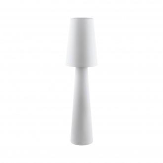 EGLO 97137 | Carpara Eglo stojaté svietidlo 143cm nožný vypínač 2x E27 biela
