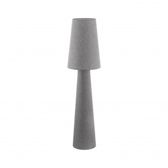 EGLO 97138 | Carpara Eglo stojaté svietidlo 143cm nožný vypínač 2x E27 sivé