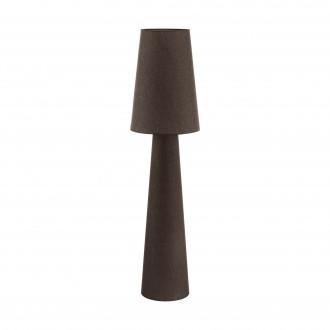 EGLO 97139 | Carpara Eglo stojaté svietidlo 143cm nožný vypínač 2x E27 hnedá