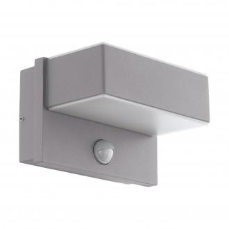 EGLO 97159 | Azzinano Eglo stenové svietidlo pohybový senzor, svetelný senzor - súmrakový spínač 2x LED 1200lm 3000K IP44 strieborný, biela