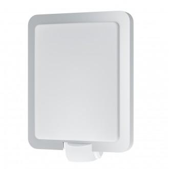 EGLO 97218 | Mussotto Eglo stenové svietidlo pohybový senzor 1x E27 IP44 zušľachtená oceľ, nehrdzavejúca oceľ, biela