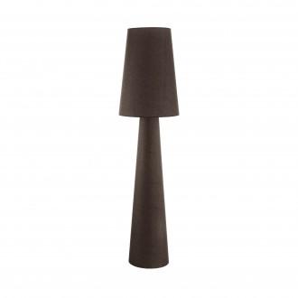 EGLO 97233 | Carpara Eglo stojaté svietidlo 173cm nožný vypínač 2x E27 hnedá