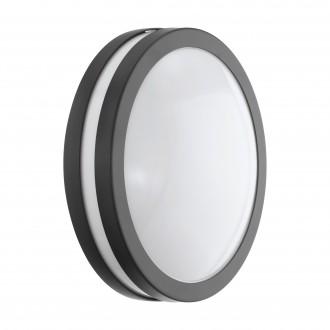 EGLO 97237 | EGLO-Connect-Locana Eglo stenové, stropné múdre osvetlenie kruhový regulovateľná intenzita svetla 1x LED 1400lm 3000K IP44 antracit, biela