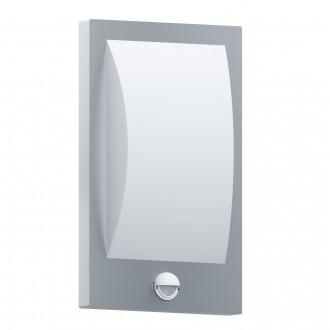 EGLO 97238 | Verres Eglo stenové svietidlo pohybový senzor 1x E27 IP44 zušľachtená oceľ, nehrdzavejúca oceľ, biela