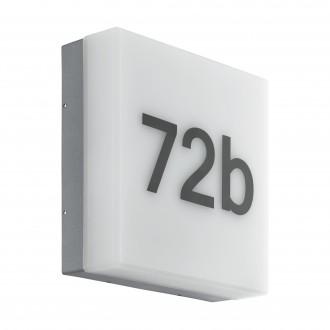EGLO 97289 | Cornale Eglo stenové svietidlo svetelný senzor - súmrakový spínač 1x LED 820lm 3000K IP44 antracit, biela