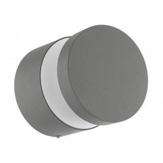 EGLO 97301 | Melzo Eglo stenové, stropné svietidlo 1x LED 950lm 3000K IP44 strieborný, priesvitná, biela