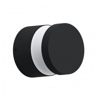 EGLO 97303 | Melzo Eglo stenové, stropné svietidlo 1x LED 950lm 3000K IP44 čierna, priesvitná, biela