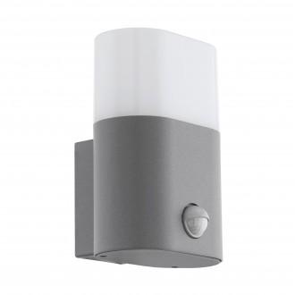 EGLO 97315 | Favria Eglo stenové svietidlo pohybový senzor 1x LED 1250lm 3000K IP44 strieborný, biela