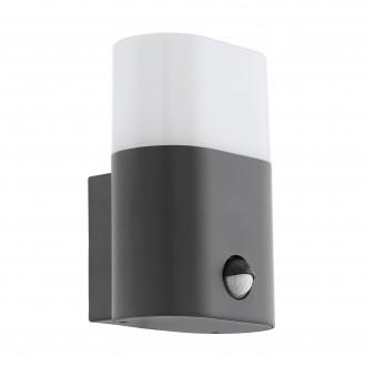 EGLO 97316 | Favria Eglo stenové svietidlo pohybový senzor 1x LED 1250lm 3000K IP44 antracit, biela