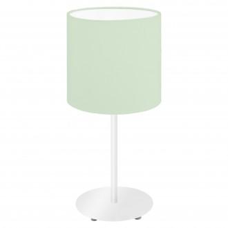 EGLO 97382   Eglo-Pasteri-Pastel-LG Eglo stolové svietidlo 40cm prepínač na vedení 1x E14 pastelovo zelené, biela
