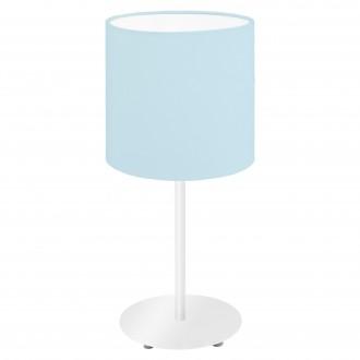 EGLO 97389   Eglo-Pasteri-Pastel-LB Eglo stolové svietidlo 40cm prepínač na vedení 1x E14 pastelové modré, biela