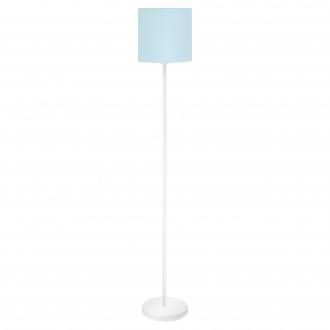 EGLO 97391 | Eglo-Pasteri-Pastel-LB Eglo stojaté svietidlo 157,5cm nožný vypínač 1x E27 pastelové modré, biela