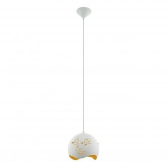 EGLO 97392 | Laurina Eglo visiace svietidlo 1x E27 biela, pomaranč