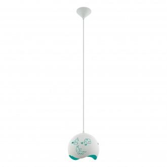 EGLO 97393 | Laurina Eglo visiace svietidlo 1x E27 biela, modrá