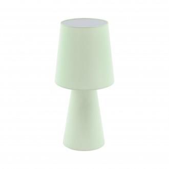 EGLO 97431   Carpara Eglo stolové svietidlo 47cm prepínač na vedení 2x E27 pastelovo svetlozelená
