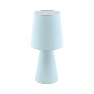 EGLO 97432   Carpara Eglo stolové svietidlo 47cm prepínač na vedení 2x E27 pastelovo svetlomodrá