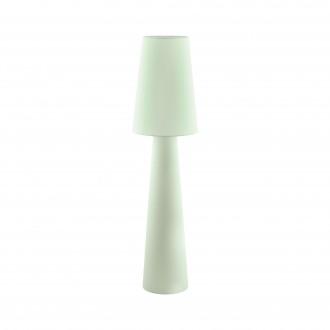EGLO 97433 | Carpara Eglo stojaté svietidlo 143cm nožný vypínač 2x E27 pastelovo svetlozelená