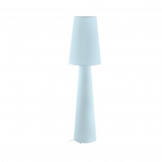 EGLO 97434 | Carpara Eglo stojaté svietidlo 143cm nožný vypínač 2x E27 pastelovo svetlomodrá