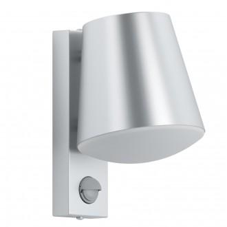 EGLO 97453 | Caldiero Eglo stenové svietidlo pohybový senzor 1x E27 IP44 zušľachtená oceľ, nehrdzavejúca oceľ, biela