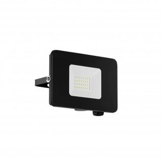 EGLO 97456 | Faedo Eglo svetlomet svietidlo štvorec otočné prvky 1x LED 1800lm 4000K IP65 čierna, priesvitná