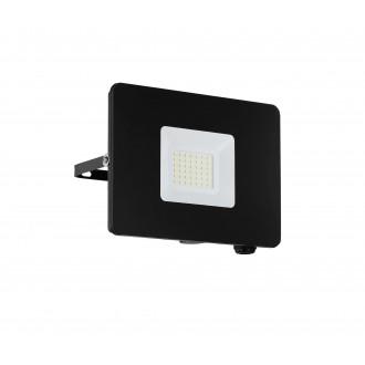 EGLO 97457 | Faedo Eglo svetlomet svietidlo štvorec otočné prvky 1x LED 2750lm 4000K IP65 čierna, priesvitná