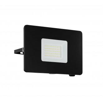 EGLO 97458 | Faedo Eglo svetlomet svietidlo štvorec otočné prvky 1x LED 4800lm 4000K IP65 čierna, priesvitná