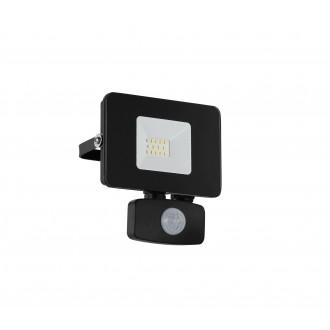 EGLO 97459 | Faedo Eglo svetlomet svietidlo pohybový senzor, svetelný senzor - súmrakový spínač otočné prvky 1x LED 900lm 4000K IP44 čierna, priesvitná