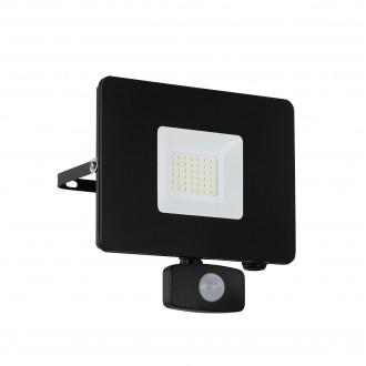 EGLO 97462 | Faedo Eglo svetlomet svietidlo pohybový senzor, svetelný senzor - súmrakový spínač otočné prvky 1x LED 2750lm 4000K IP44 čierna, priesvitná