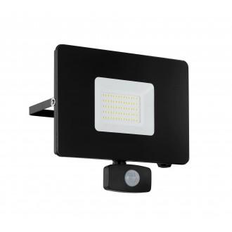 EGLO 97463 | Faedo Eglo svetlomet svietidlo pohybový senzor, svetelný senzor - súmrakový spínač otočné prvky 1x LED 4800lm 4000K IP44 čierna, priesvitná