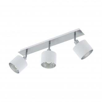 EGLO 97534 | Valbiano Eglo spot svietidlo otočné prvky 3x E14 matný nikel, biela, strieborný