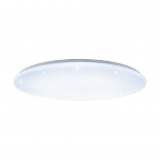 EGLO 97543 | GironS-LED Eglo stropné svietidlo kruhový diaľkový ovládač regulovateľná intenzita svetla, nastaviteľná farebná teplota 1x LED 7800lm 2700 <-> 5000K biela, kryštálový efekt