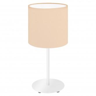 EGLO 97565 | Eglo-Pasteri-Pastel-A Eglo stolové svietidlo 40cm prepínač na vedení 1x E14 pastelová marhuľová, biela