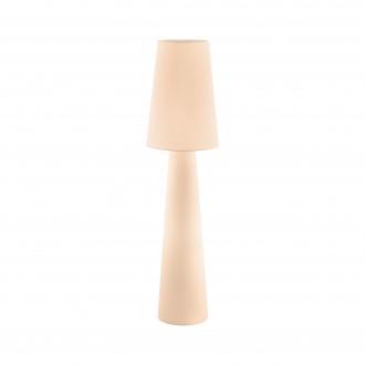EGLO 97568 | Carpara Eglo stojaté svietidlo 143cm nožný vypínač 2x E27 pastelová marhuľová
