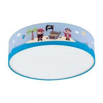 EGLO 97576 | San-Carlo Eglo stropné svietidlo kruhový 2x E27 biela, farebné