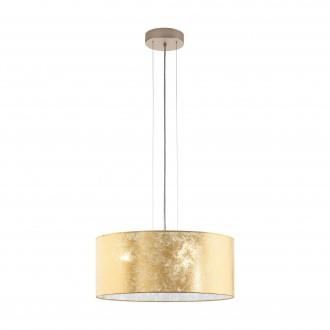EGLO 97644 | Viserbella Eglo visiace svietidlo kruhový 3x E27 šampanské, zlatý